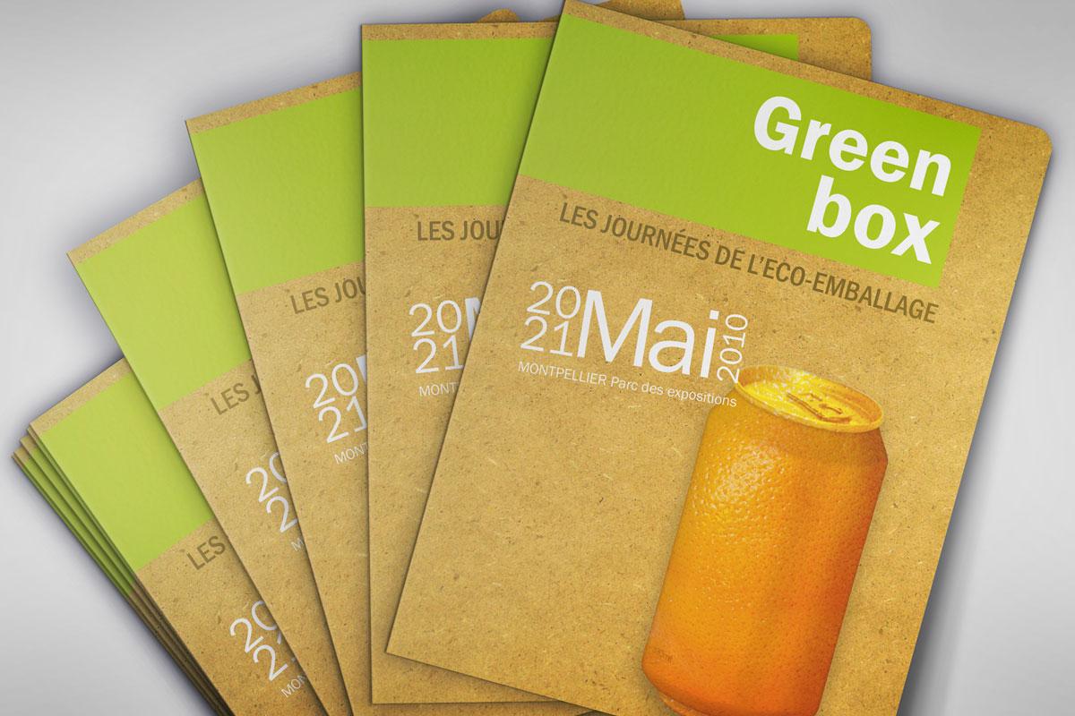 Pochette pour le salon Green box-affiche