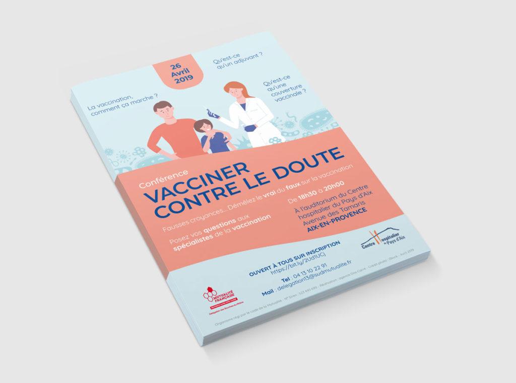 Flyer pour la Mutualité Française SUD