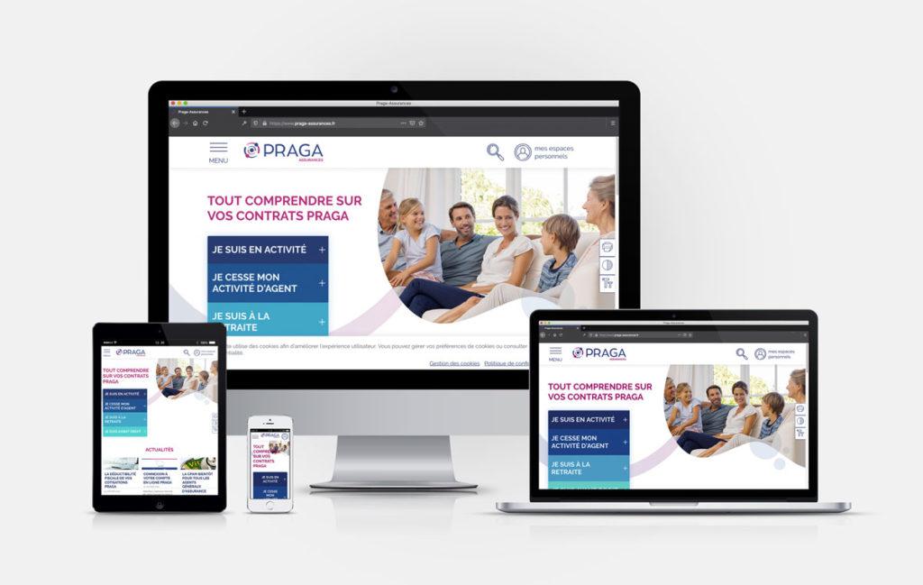 Webdesign responsive site web de PRAGA