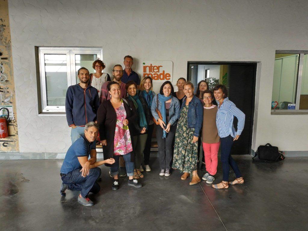 Photo de groupe lors du premier jour chez Inter-made